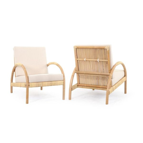 Selah Casual Tan Cotton Chair
