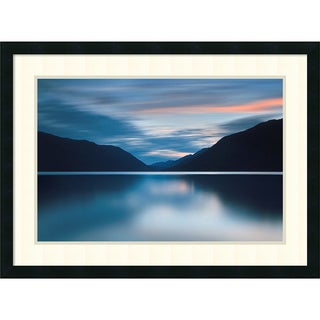 Katherine Gendreau 'Lake Crescent Dusk' Framed Art Print 31 x 23-inch
