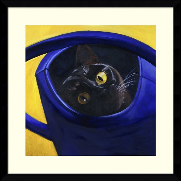 Isy Ochoa 'Cat in the Watering Can, 1996' Framed Art Print 19 x 19-inch