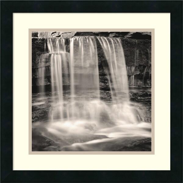 Andrew Ren 'Waterfall, Study #2' Framed Art Print 18 x 18-inch