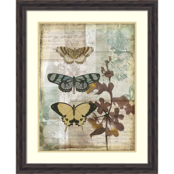 Jennifer Goldberger 'Music Box Butterflies I' Framed Art Print 27 x 33-inch