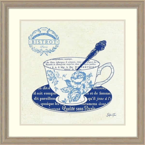 Framed Art Print 'Blue Cups I' by Stefania Ferri 27 x 27-inch 16065745