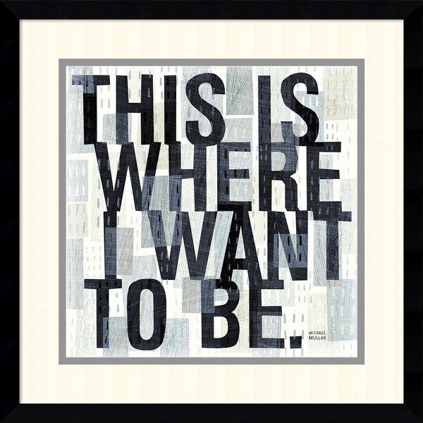 Michael Mullan 'This is Where' Framed Art Print 17 x 17-inch