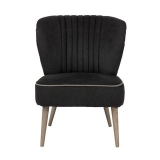 Rainier Modern Black Cotton Chair