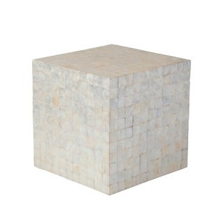Gearhart Transitional Off-White Natural Stool