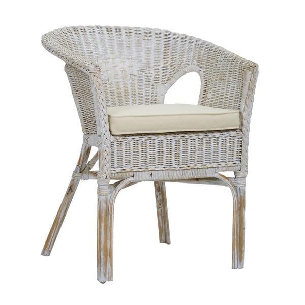 Ruston Rustic White Chair