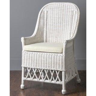 Ruston Casual White Textured Chair