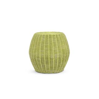 SeaTac Casual Green Textured Drum Stool
