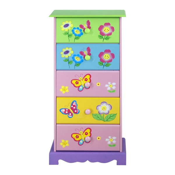 Adorable Kid's Drawer Storage Cabinet
