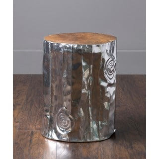 Stanwood Modern Silver Tempered Drum Stool