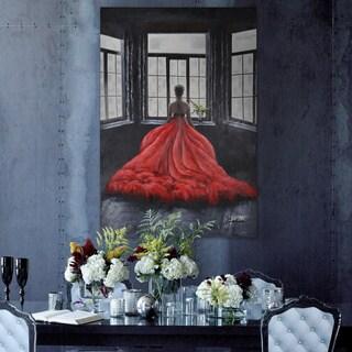 'Red Dress' Unframed Canvas Art
