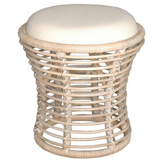 Abby Casual Off-White Natural Stool