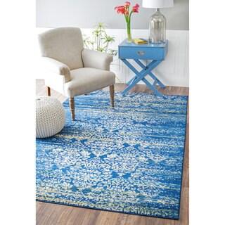 nuLOOM Vintage Floral Fancy Blue Rug (5'3 x 8')