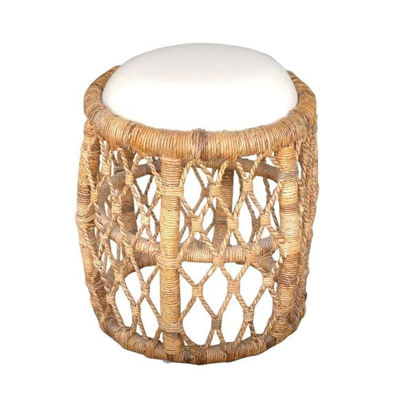 Belleville Transitional Tan Textured Stool