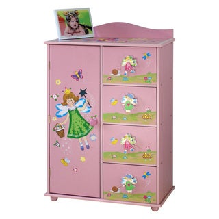 Adorable Kid's 4-drawer Storage Cabinet, Blue or Pink