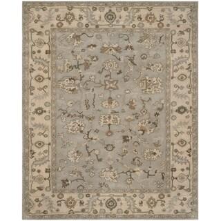 Safavieh Handmade Heritage Beige/ Grey Wool Rug (6' x 9')
