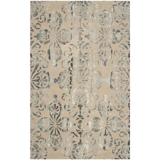 Safavieh Handmade Dip Dye Camel/ Grey Wool Rug (8' x 10')