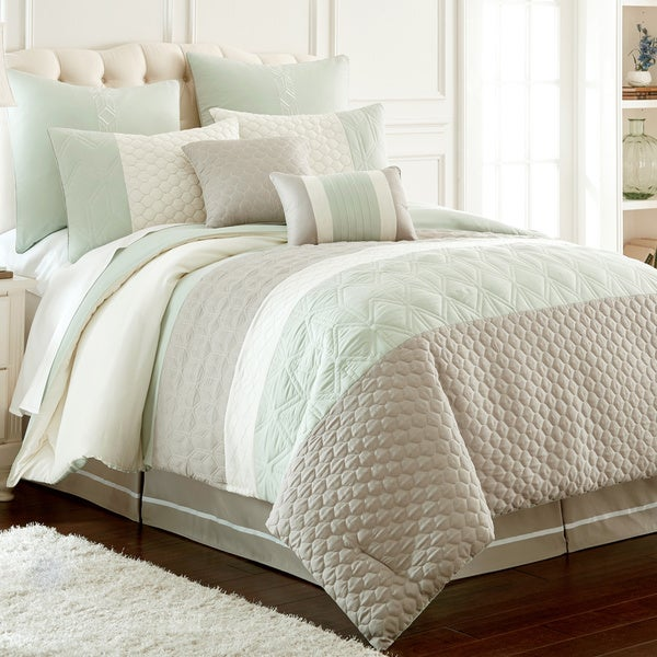 Palisades Embroidered 8-Piece Comforter Set