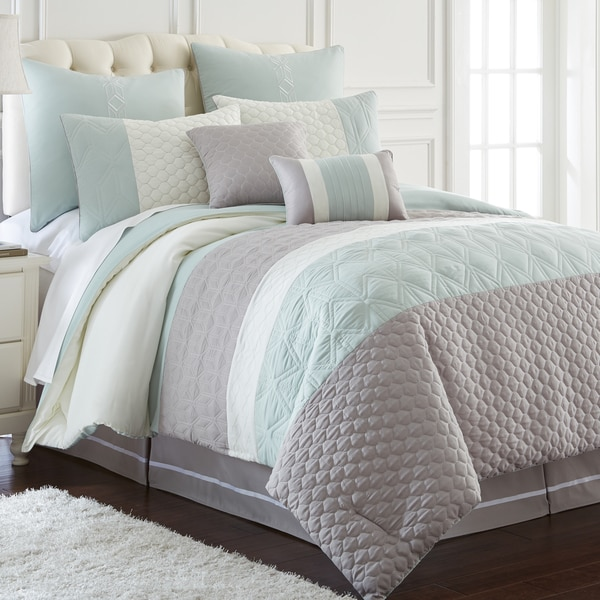 Palisades Embroidered 8-Piece Comforter Set (KIng)(As Is Item)