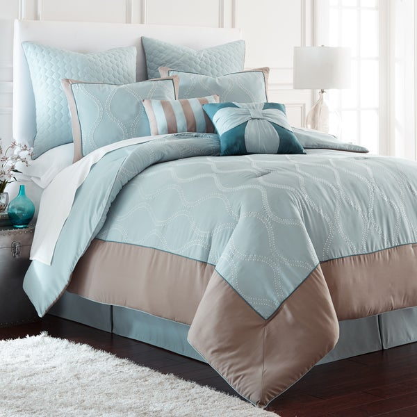 Saint Tropez 8-Piece Embroidered Comforter Set