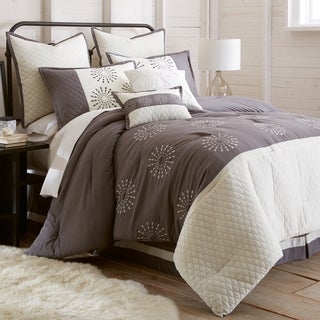 Vida Embroidered 8-Piece Comforter Set