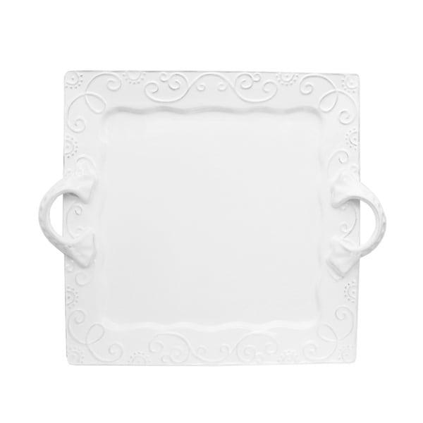 Mina White Square Platter