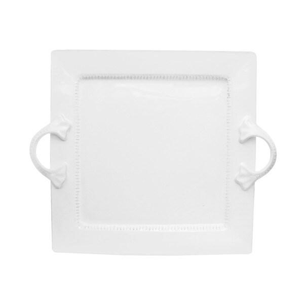 Bianca Dash White Square Platter