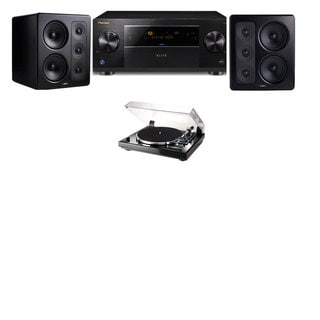 M&K Sound S300 Monitor Speaker 2.0 Thorens TD-240-2 Pioneer Elite SC-89
