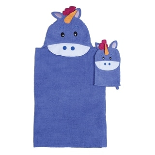 Unicorn Hooded Bath Wrap forTub Time for Tots