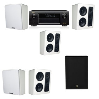 M&K Sound MP300 White Monitor Speaker 5.1 X12 Denon AVR-X5200W
