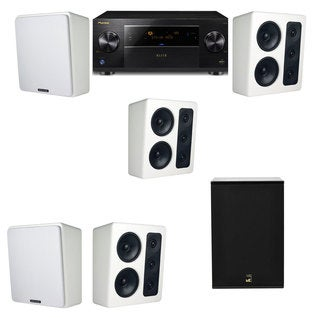 M&K Sound MP300 White Monitor Speaker 5.1 X12 Pioneer Elite SC-89