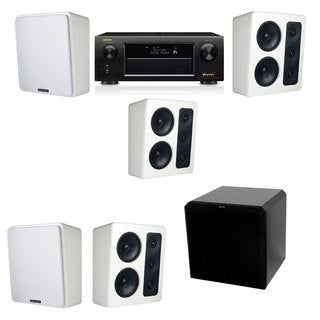 M&K Sound MP300 White Monitor Speaker 5.1 HRS12 Denon AVR-X5200W