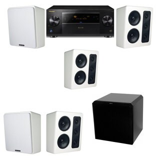 M&K Sound MP300 White Monitor Speaker 5.1 HRS12 Pioneer Elite SC-89
