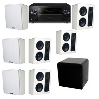 M&K Sound MP300 White Monitor Speaker 7.1 HRS12 Pioneer Elite SC-89