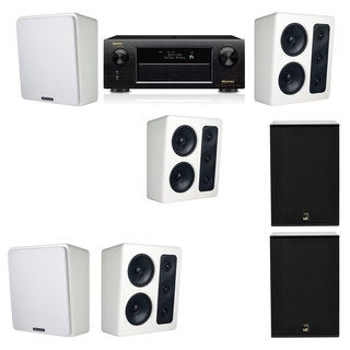 M&K Sound MP300 White Monitor Speaker 5.2 X12 Denon AVR-X5200W