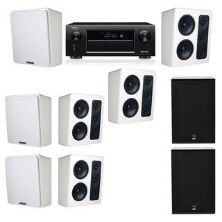M&K Sound MP300 White Monitor Speaker 7.2 X12 Denon AVR-X5200W