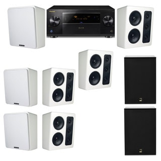 M&K Sound MP300 White Monitor Speaker 7.2 X12 Pioneer Elite SC-89