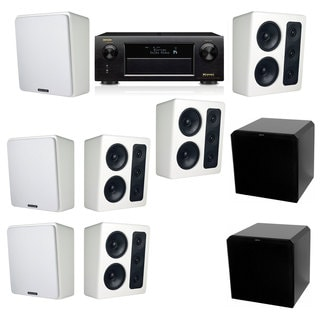 M&K Sound MP300 White Monitor Speaker 7.2 HRS12 Denon AVR-X5200W