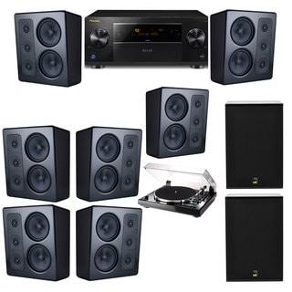 M&K Sound MP300 Monitor Speaker 7.2 Thorens TD-240-2 X12 Pioneer Elite SC-89