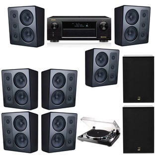 M&K Sound MP300 Monitor Speaker 7.2 Thorens TD-240-2 X12 Denon AVR-X5200W