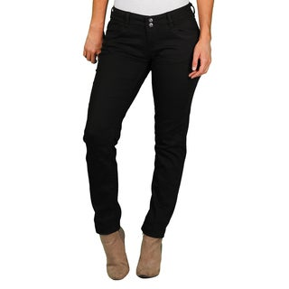 Unionbay Lucy Juniors' Black 2-Button Skinny Pant