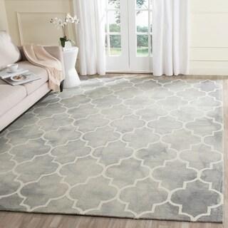 Safavieh Handmade Dip Dye Grey/ Ivory Wool Rug (8' x 10')