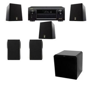 M&K Sound S150II Loudspeaker 5.1 HRS12 Denon AVR-X5200W