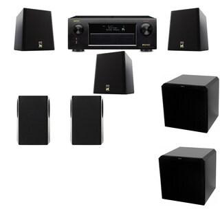 M&K Sound S150II Loudspeaker 5.2 HRS12 Denon AVR-X5200W