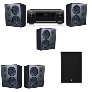 M&K Sound MP300 Monitor Speaker 5.1 X12 Denon AVR-X5200W