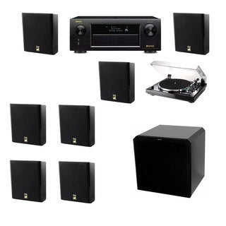 M&K Sound MP150II Wall Speaker 7.1 Thorens TD-240-2 HRS12 Denon AVR-X5200W