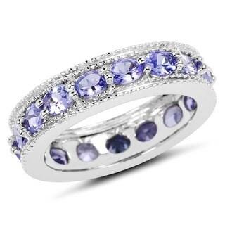 Malaika Sterling Silver 2 5/8ct Tanzanite Ring