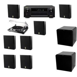 M&K Sound MP150II Wall Speaker 7.2 Thorens TD-240-2 HRS12 Denon AVR-X5200W