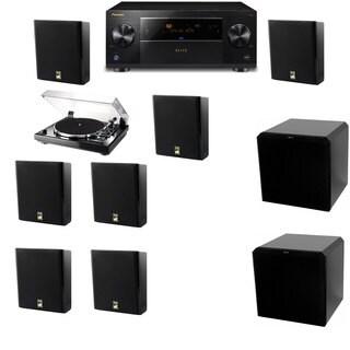 M&K Sound MP150II Wall Speaker 7.2 Thorens TD-240-2 HRS12 Pioneer Elite SC-89
