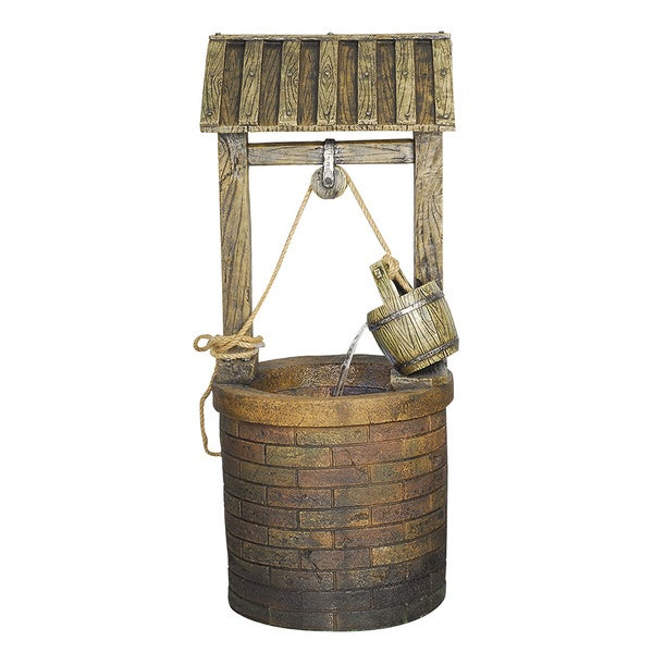 Vintage Style Wishing Well Fountain